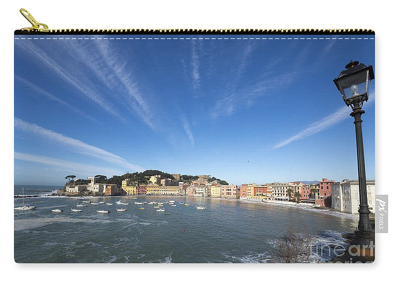 Village Carry-all Pouch featuring the photograph Old Village Sestri Levante by Mats Silvan
