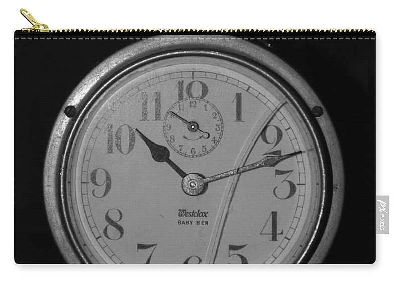 Clock Carry-all Pouch featuring the photograph Old Westclock by Rob Hans