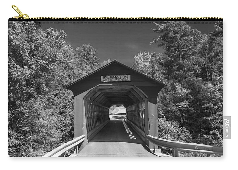 Arlington Vt Carry-all Pouch featuring the photograph One Dollar Fine by Guy Whiteley