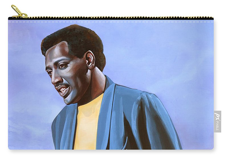Otis Redding Carry-all Pouch featuring the painting Otis Redding Painting by Paul Meijering