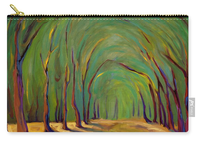 Landscape Carry-all Pouch featuring the painting Our Secret Place by Konnie Kim