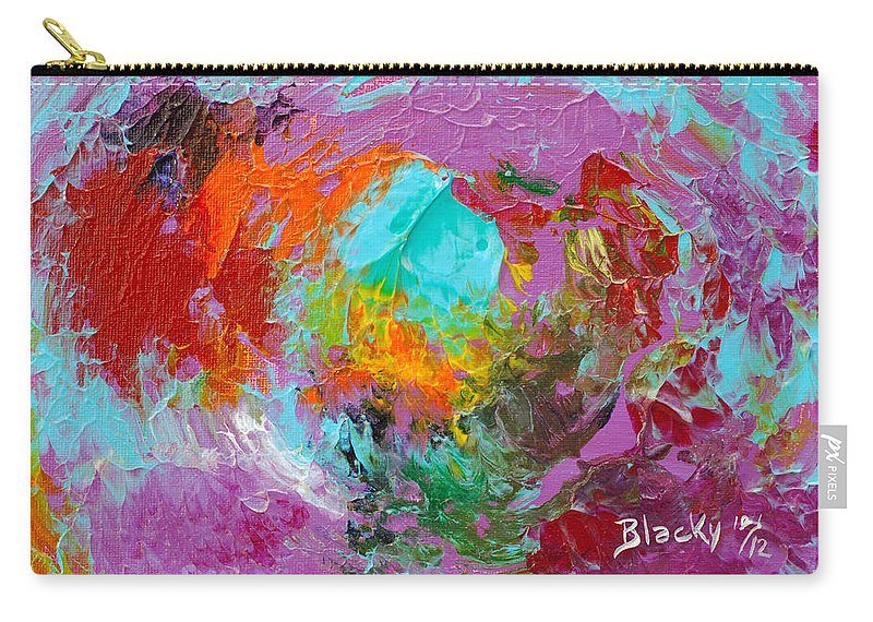 Bold Abstract Carry-all Pouch featuring the painting Out In The Garden by Donna Blackhall