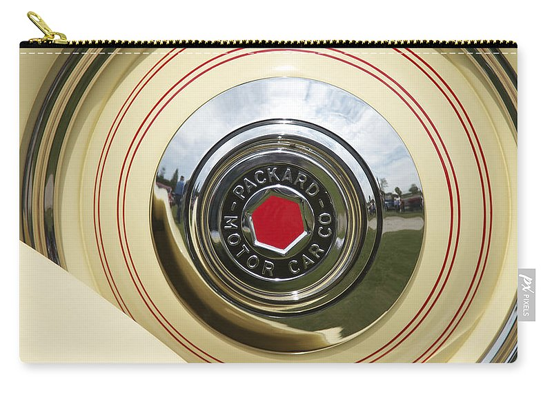 Antique Carry-all Pouch featuring the photograph Packard 1936-37 by Jack R Perry