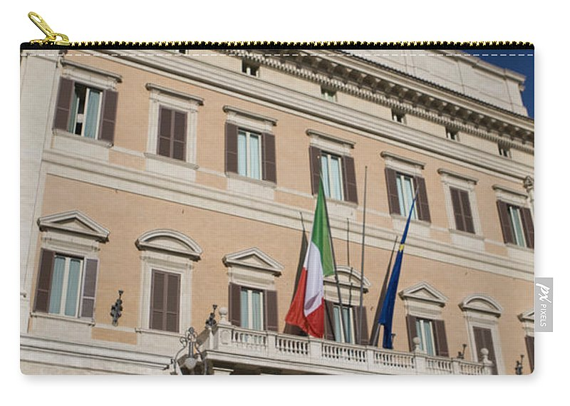 Travel Carry-all Pouch featuring the photograph Parliament Building Rome by Jason O Watson
