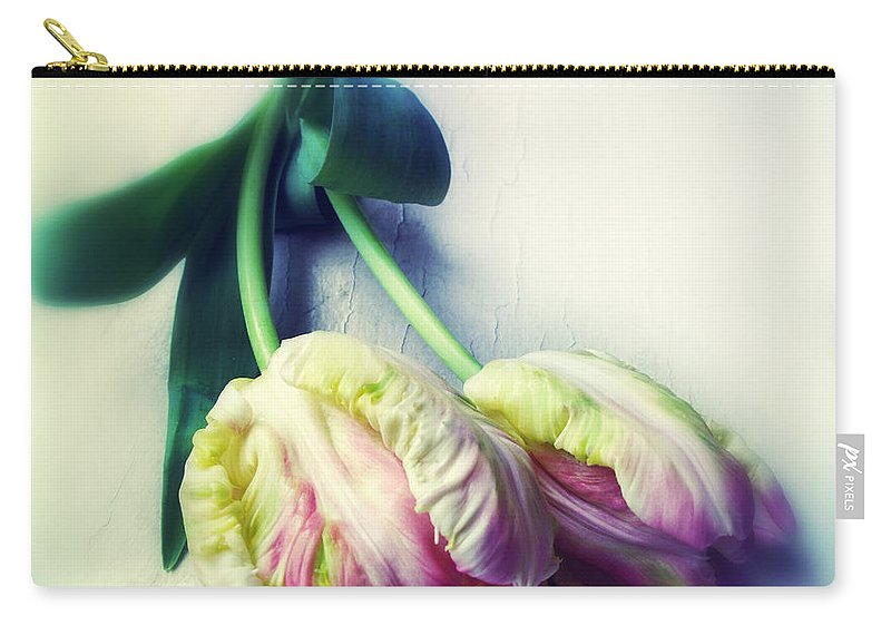 Flowers Carry-all Pouch featuring the photograph Pastel Petals by Jessica Jenney