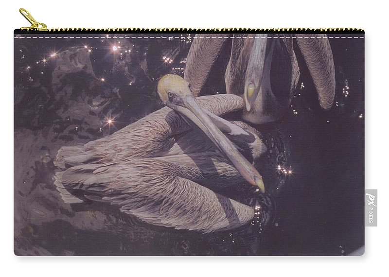 Matlasha Florida Carry-all Pouch featuring the photograph Pelicans by Robert Floyd