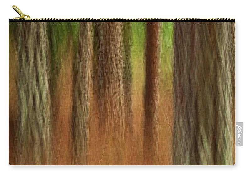 Abstract Carry-all Pouch featuring the photograph Pine Trees by Heiko Koehrer-Wagner