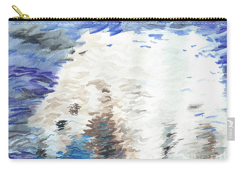 Polar Carry-all Pouch featuring the painting Polar Bear Reflection by J M Lister