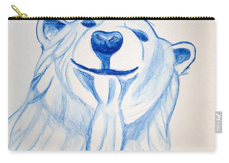 Rick Huotari Carry-all Pouch featuring the painting Polar Bear by Rick Huotari