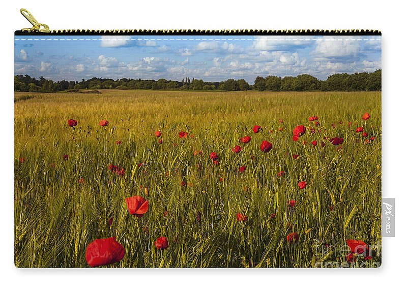 Blossom Carry-all Pouch featuring the photograph Poppy Field by Svetlana Sewell