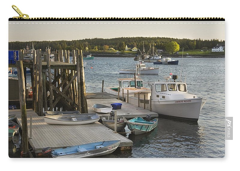 Maine Carry-all Pouch featuring the photograph Port Clyde Maine Boats And Harbor by Keith Webber Jr