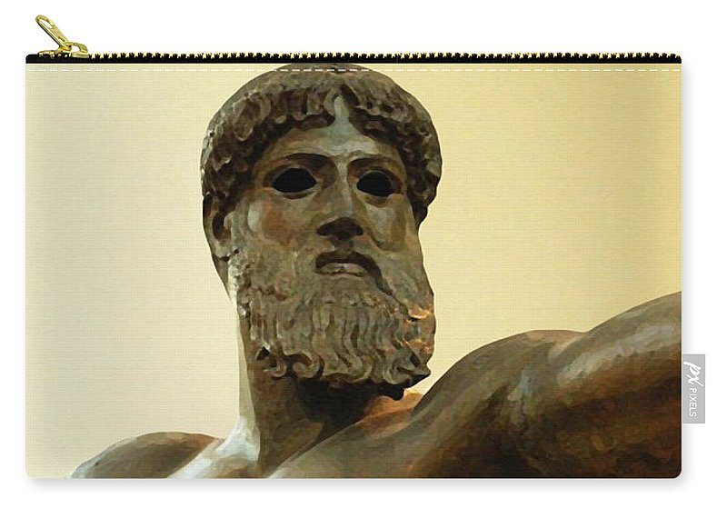Poseidon Carry-all Pouch featuring the painting Poseidon by Ellen Henneke