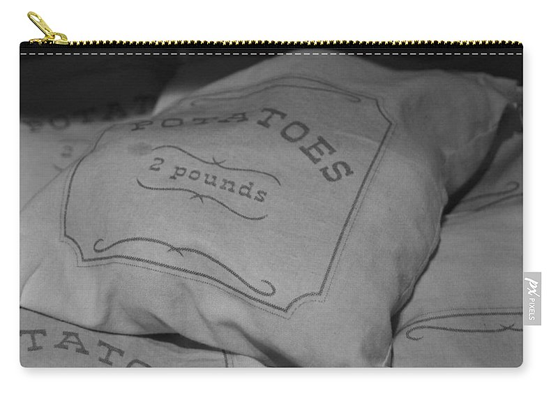 Burlap Carry-all Pouch featuring the photograph 2 Pounds Of Potatoes by Holly Blunkall