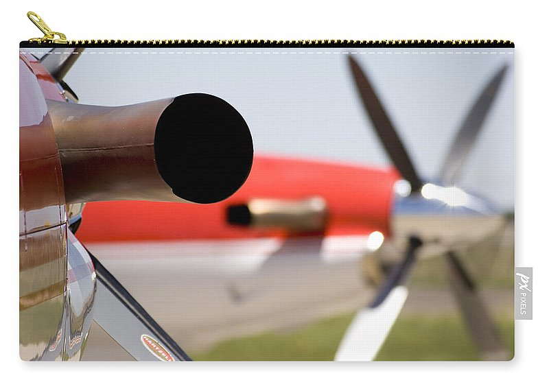 Pilatus Pc 12 Golden Eagle Carry-all Pouch featuring the photograph Power by Paul Job