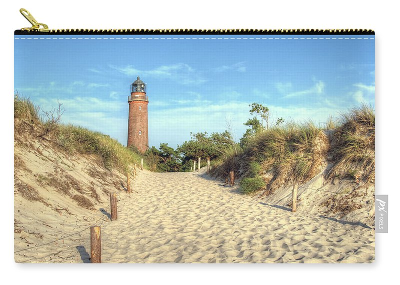Ostsee Carry-all Pouch featuring the pyrography Prerow Lightning by Steffen Gierok