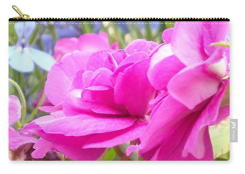 Flower Carry-all Pouch featuring the photograph Pretty Pink Flower by Line Gagne