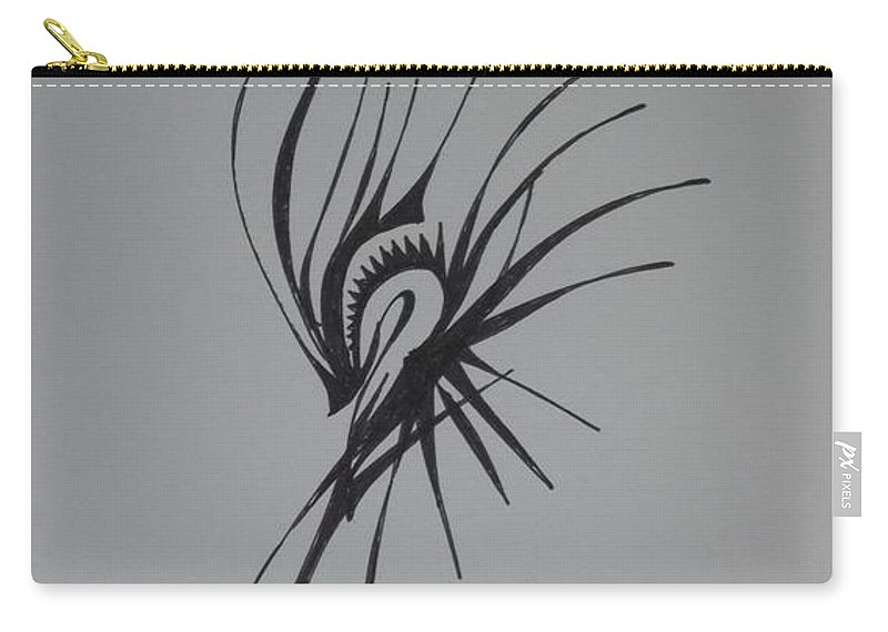 Abstract Carry-all Pouch featuring the drawing Prominence by D Wood
