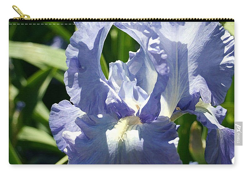 Purple Bearded Iris Carry-all Pouch featuring the painting Purple Bearded Iris by Ellen Henneke