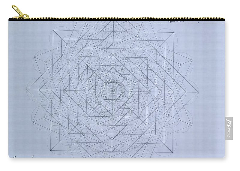Jason Carry-all Pouch featuring the drawing Quantum Foam by Jason Padgett