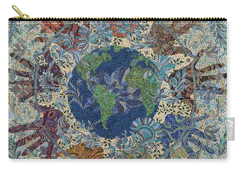Peace Carry-all Pouch featuring the painting Reach Out by Erika Pochybova