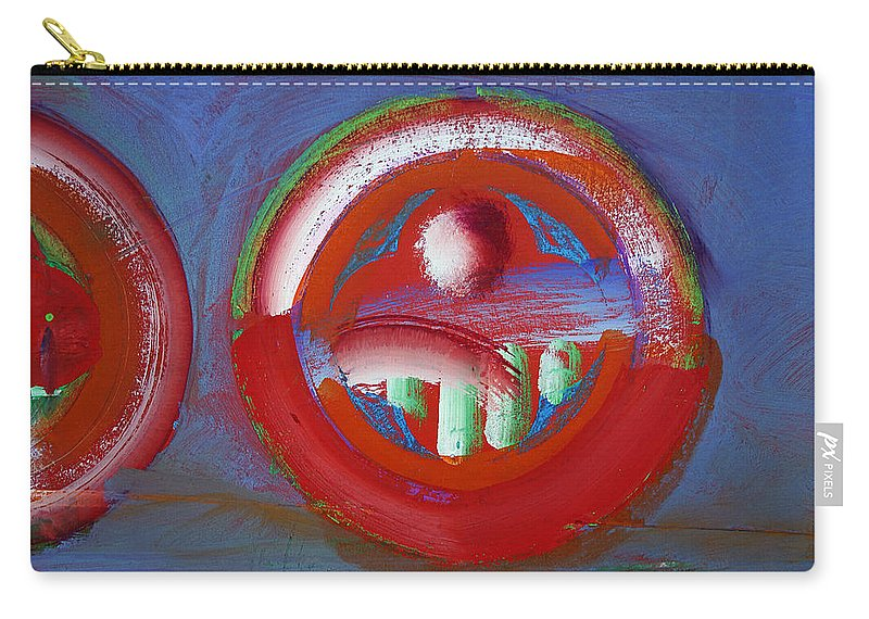 Texas Art Carry-all Pouch featuring the painting Red Planet by Charles Stuart