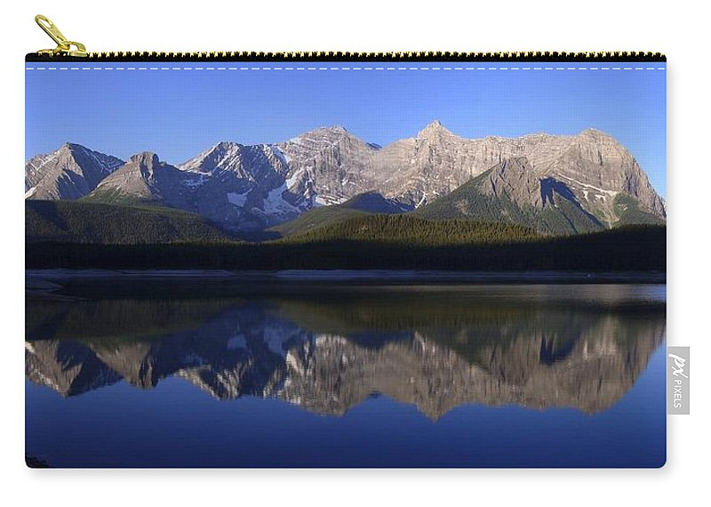 Mountain Carry-all Pouch featuring the photograph Reflected Upper Lakes Calm - Kananaskis, Alberta by Ian Mcadie