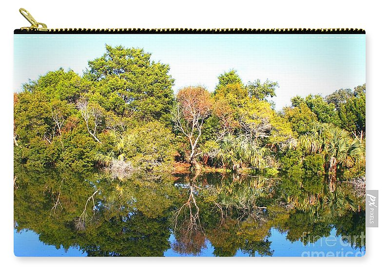 Landscape Carry-all Pouch featuring the photograph Reflections Of Fall by Nadine Rippelmeyer