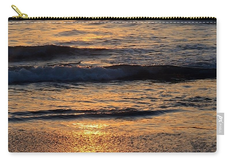 Sunset Carry-all Pouch featuring the photograph Reflections Of Sunset by Athena Mckinzie