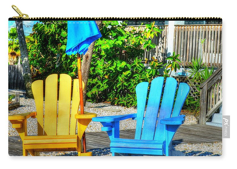 Chairs Carry-all Pouch featuring the photograph Relax by Debbi Granruth