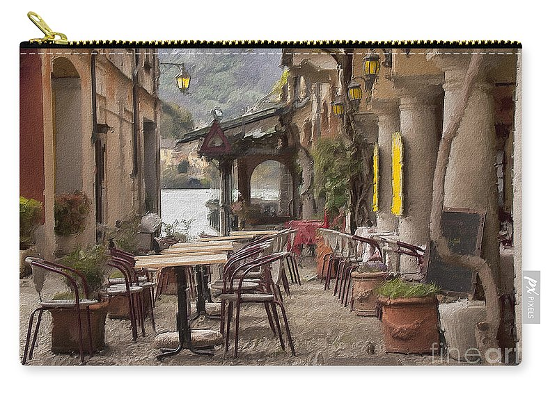 Ristorante Carry-all Pouch featuring the photograph Ristorante Impasto by Sharon Foster