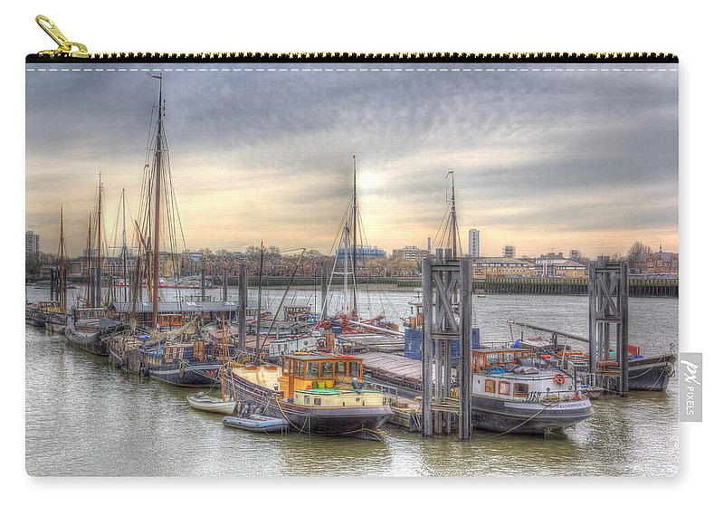 River Thames Carry-all Pouch featuring the photograph River Thames Boat Community by David Pyatt