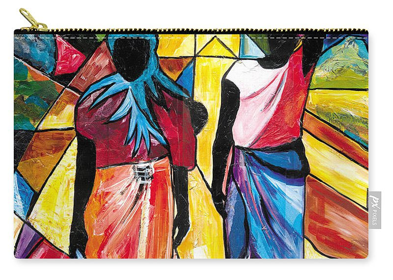 Everett Spruill Carry-all Pouch featuring the painting Road to the Market by Everett Spruill