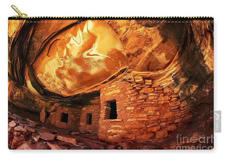 Utah Carry-all Pouch featuring the photograph Roof Falling In Ruin Utah by Bob Christopher