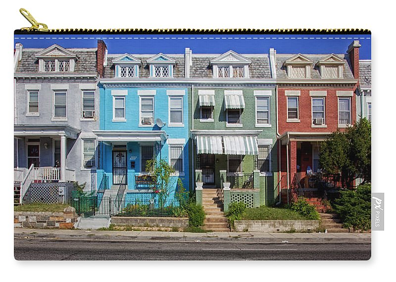 Washington D.c. Carry-all Pouch featuring the photograph Row Houses In Washington D.c. by Mountain Dreams