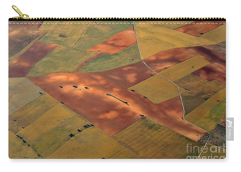 Aerial Photo Carry-all Pouch featuring the photograph Rural Beauty by Guido Montanes Castillo