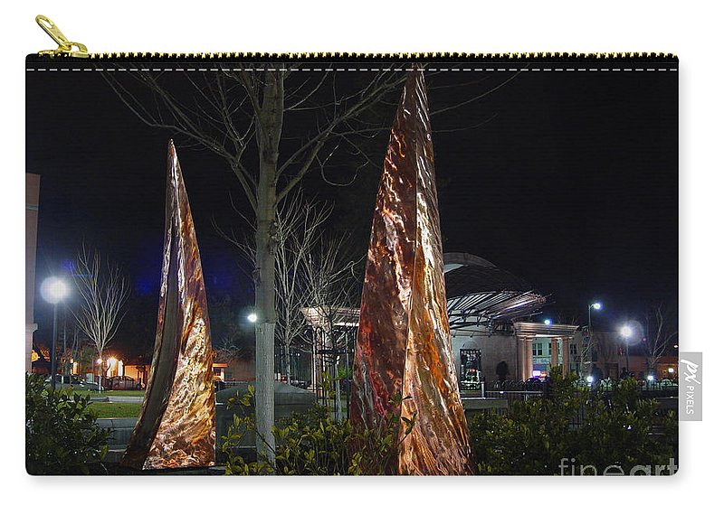 Rustic Embrace Carry-all Pouch featuring the photograph Rustic Embrace by Peter Piatt