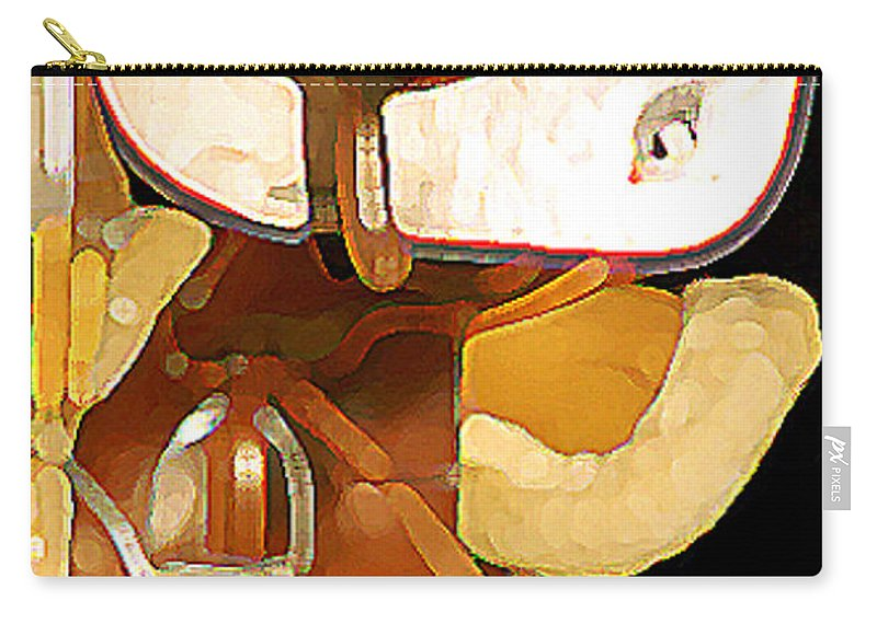 Western Carry-all Pouch featuring the photograph 2 Saddles Bucket 14592 by Jerry Sodorff