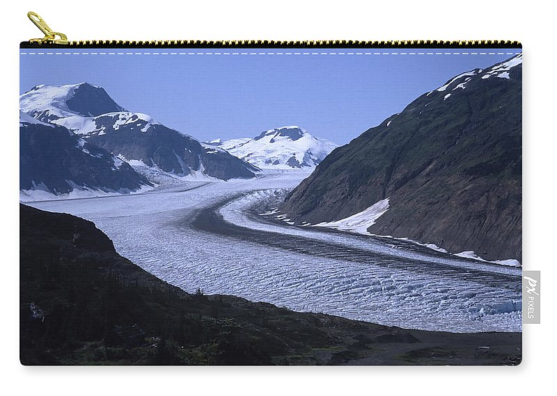 Alaska Carry-all Pouch featuring the photograph Salmon Glacier by Roderick Bley