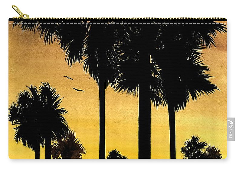 San Diego Sunset Carry-all Pouch featuring the painting San Diego Sunset by Larry Lehman