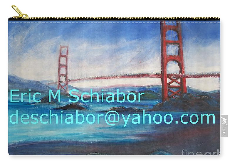 San Francisco Artwork Carry-all Pouch featuring the painting San Francisco Golden Gate Bridge by Eric Schiabor