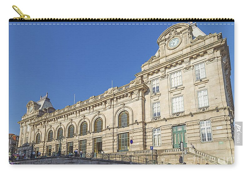 Architecture Carry-all Pouch featuring the photograph Sao Bento Railway Station Porto Portugal by Jacek Malipan