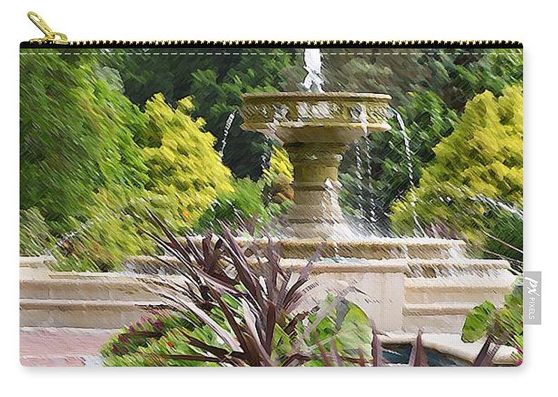 Sarah Lee Baker Perennial Garden Carry-all Pouch featuring the painting Sarah Lee Baker Perennial Garden 4 by Jeelan Clark