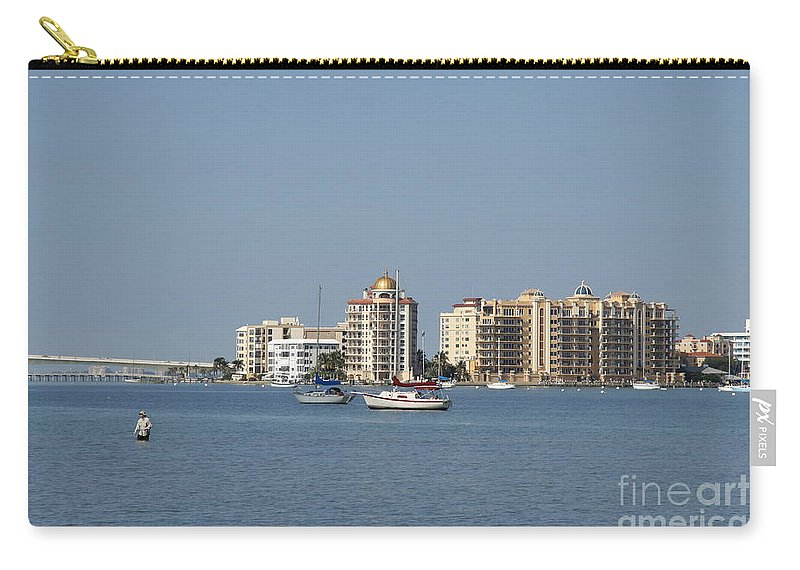View Serene View Carry-all Pouch featuring the photograph Sarasota Bay by Christiane Schulze Art And Photography