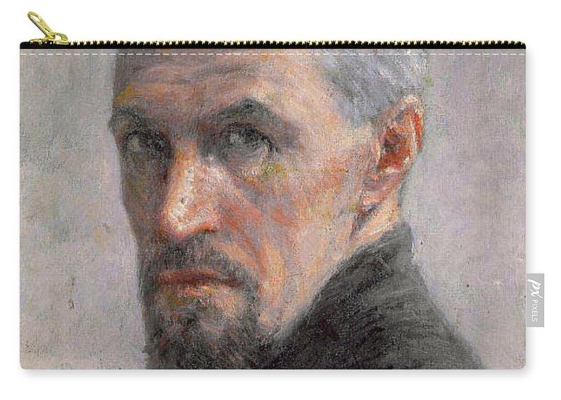 Male Carry-all Pouch featuring the painting Self Portrait by Gustave Caillebotte