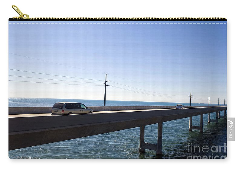 Seven Mile Bridge Carry-all Pouch featuring the photograph Seven Mile Bridge Florida Keys by Jason O Watson