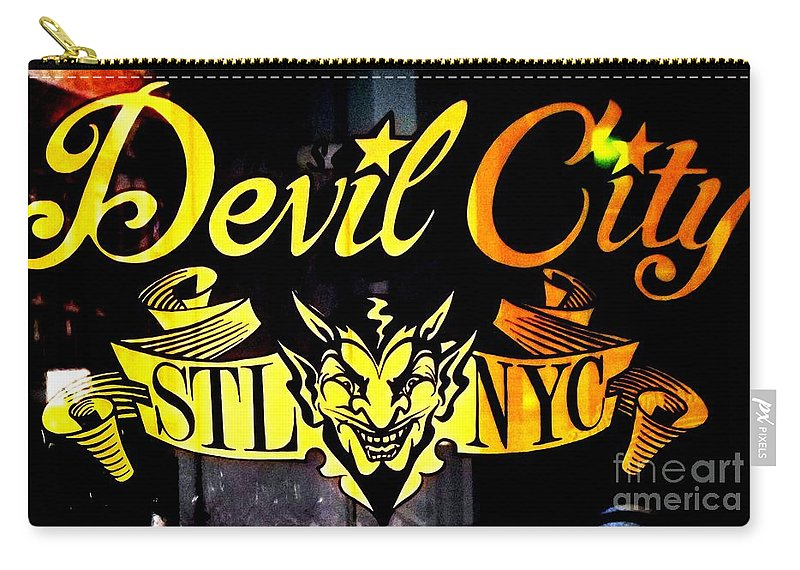 Devil City Carry-all Pouch featuring the photograph Shopping In The Loop by Kelly Awad