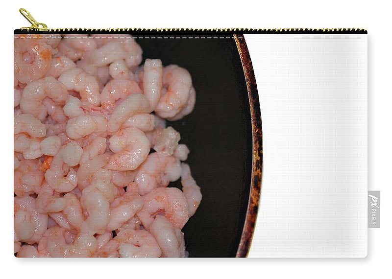 Food Carry-all Pouch featuring the photograph Shrimp by Henrik Lehnerer
