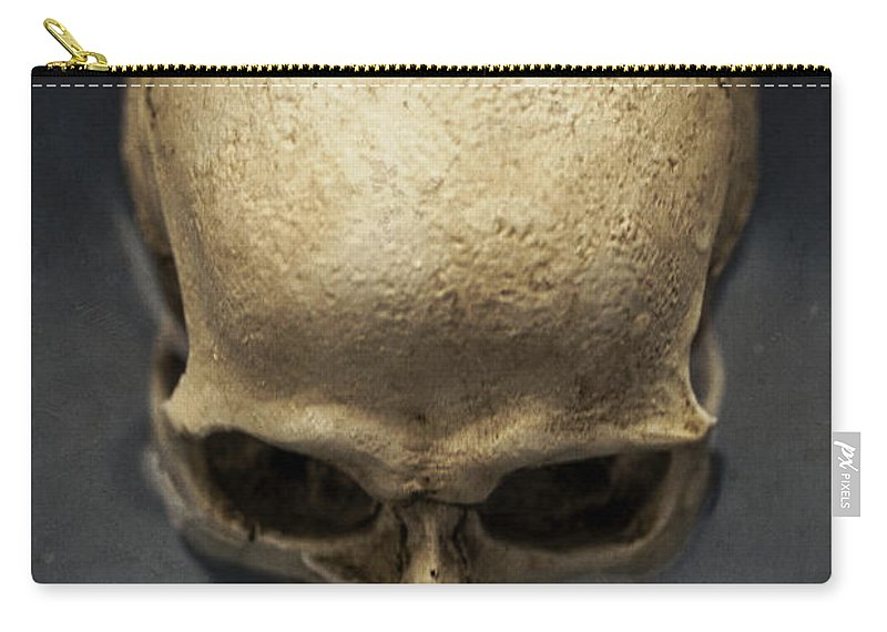 Skull Carry-all Pouch featuring the photograph Skull by Edward Fielding