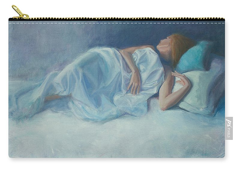 Figurative Carry-all Pouch featuring the painting Slumber by Sarah Parks