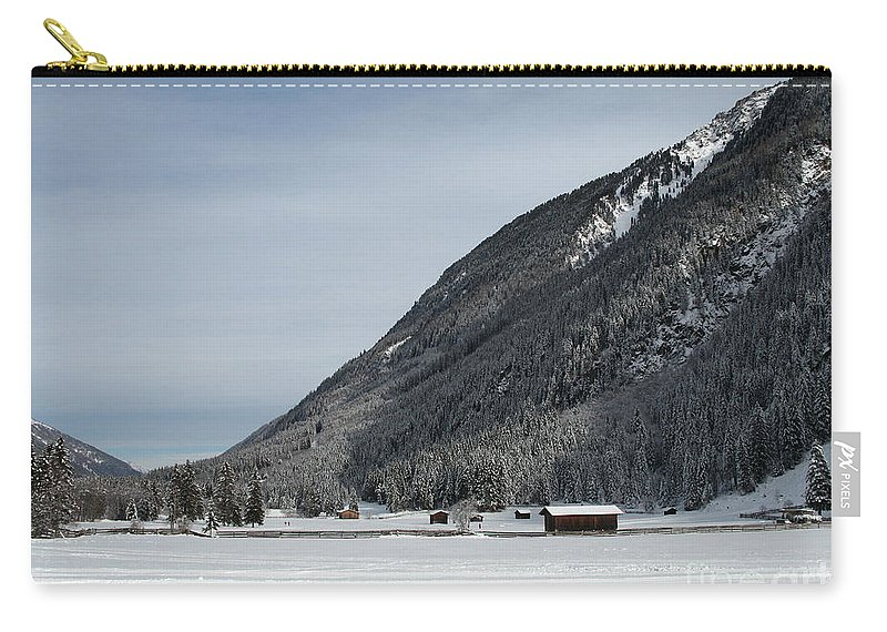 Snow Carry-all Pouch featuring the photograph Snowy Meadow by Christiane Schulze Art And Photography